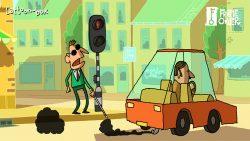 traffic light cartoon still 2